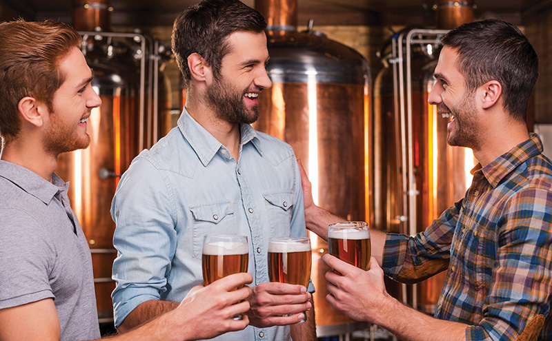 beers in brewery
