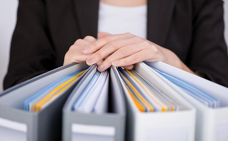 business folders stock