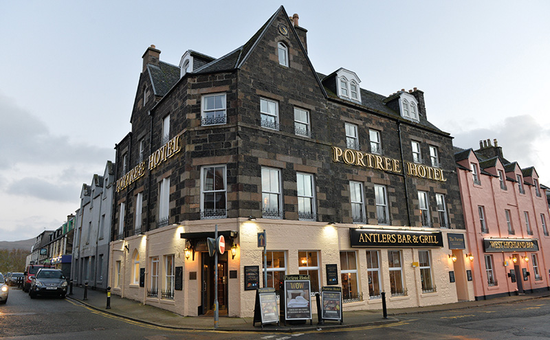 • Punch recently spent £1 million refurbishing the Portree Hotel on Skye.