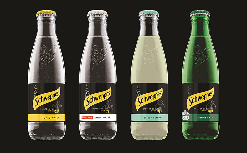 Schweppes new packaging