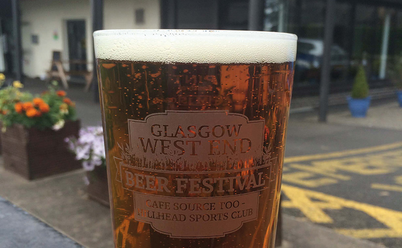 west end beer fest glass
