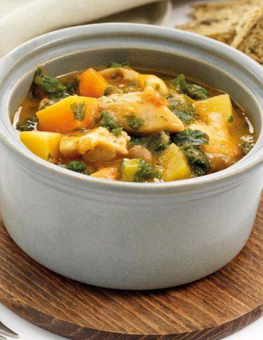 Brakes-prepared chicken casserole.