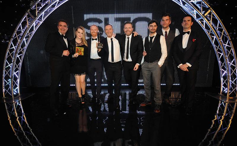 • The Sub Club team collects the SLTN Award