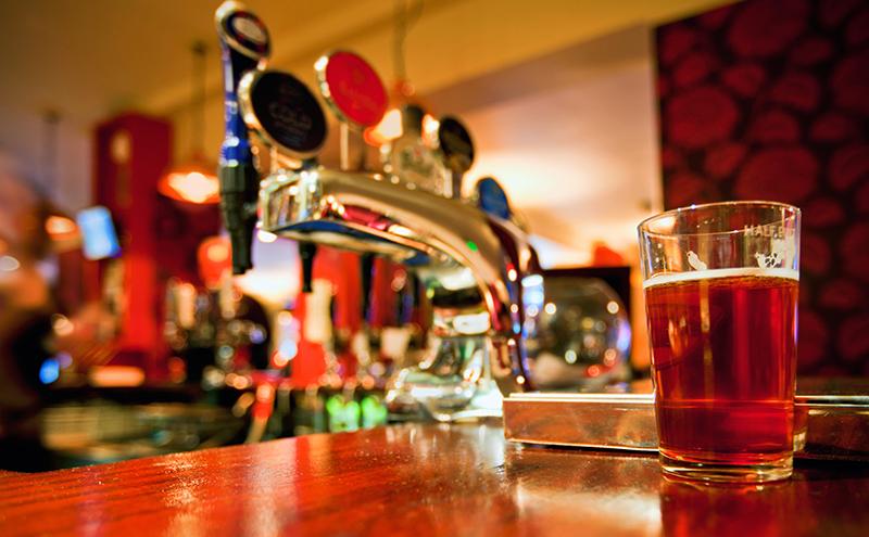 Pint in pub