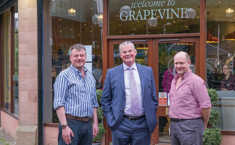 • Trond Dalby (left) and Will Hageland (right) with VisitScotland's Riddell Graham.