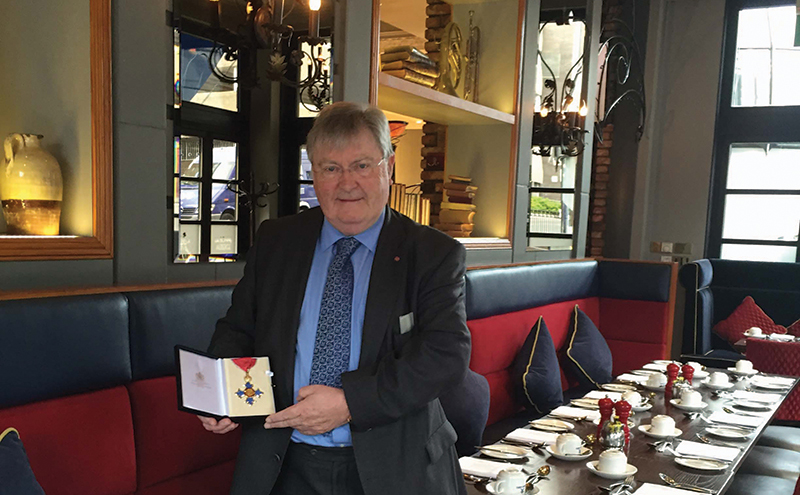 maurice taylor with CBE[2]