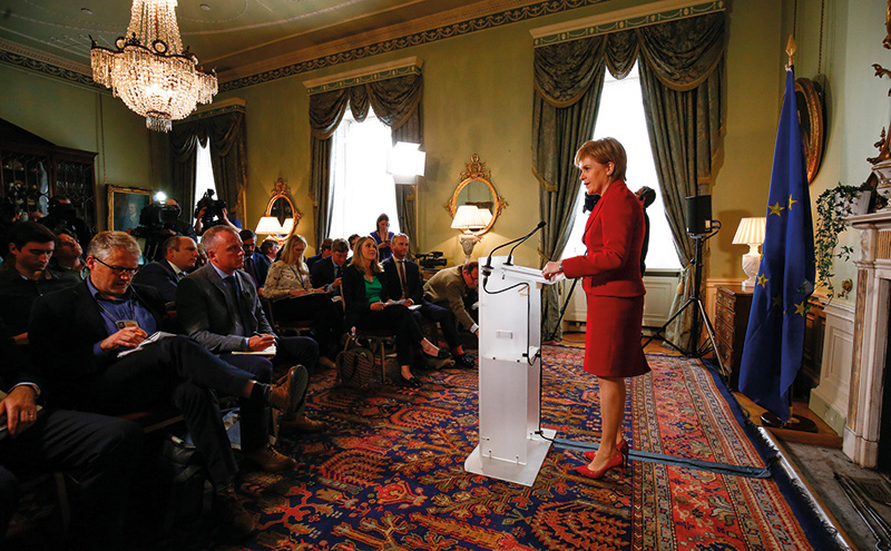 • Sturgeon is faced with a 'paradoxical position' on minimum unit pricing.