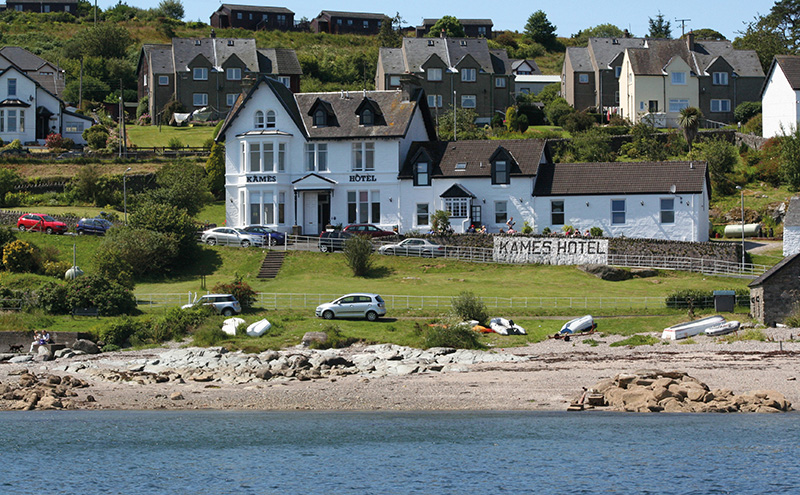 • The Kames Hotel in Argyll benefits from uninterrupted views across the Kyles of Bute.