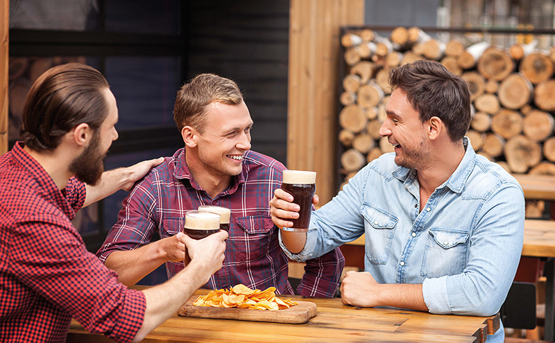 • Crisps are the traditional pairing with a beer, but licensees would do well to think bigger.