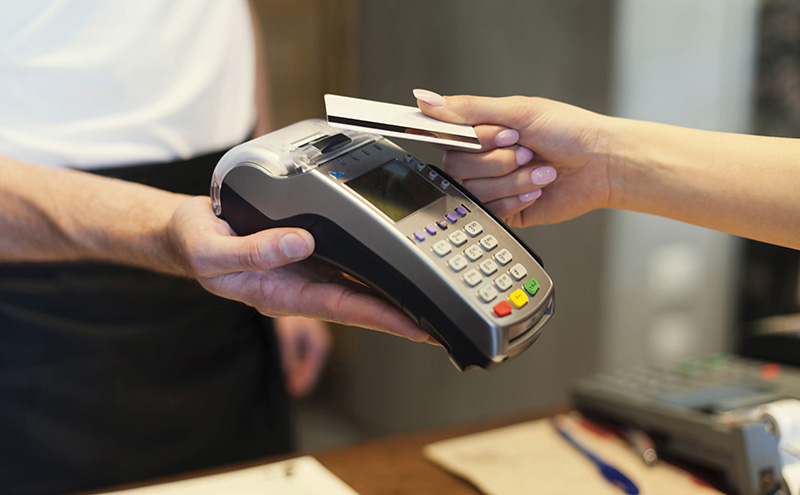 • Contactless payments are on the rise.