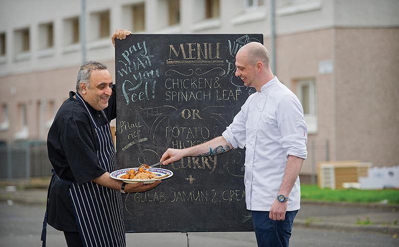 • Chefs Monir Mohammad and Aurelien Mourez at the festival launch.
