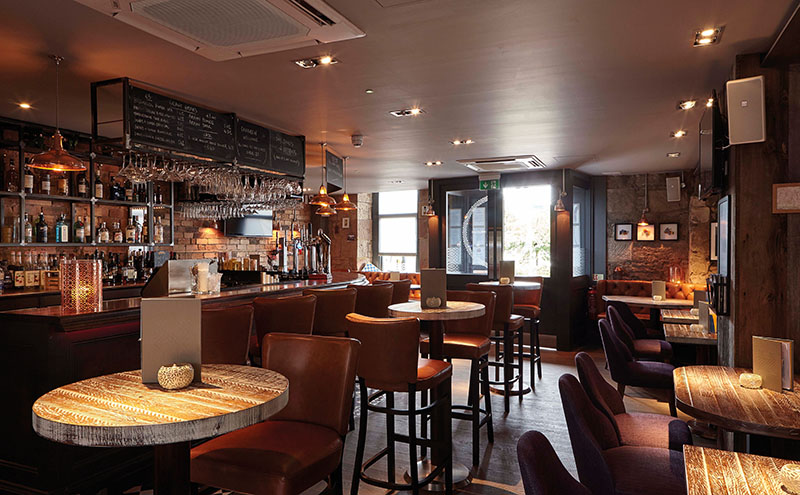 • The bar area is one of Kenny Blair's favourite aspects of The Corner House.
