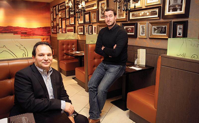 • Mario Gizzi (left) and Tony Conetta are ready to spend big in Edinburgh.