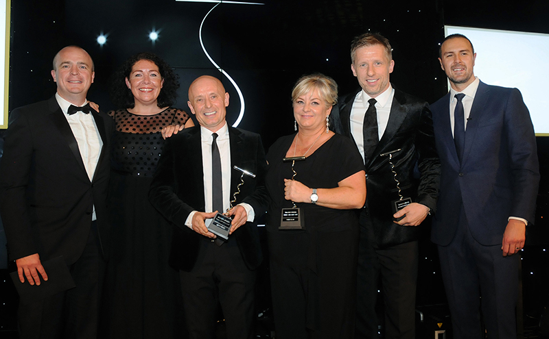 Founders of Buzzworks Holdings, with bars across Ayrshire, presented with SLTN Award for Industry Achievement for 2016