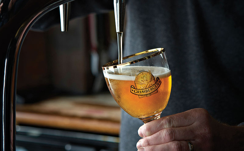 • Belgian abbey beer Grimbergen is one of the first beers available in DraughtMaster format.