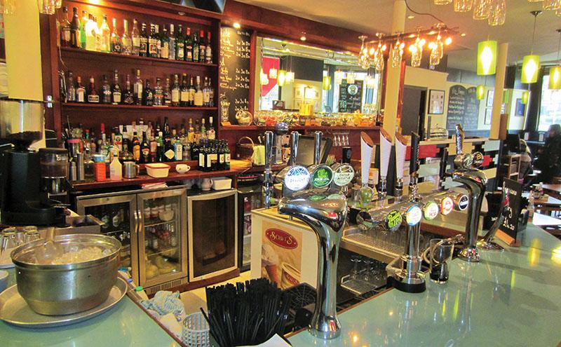 """• The Rio Café has a """"loose '70s theme""""."""