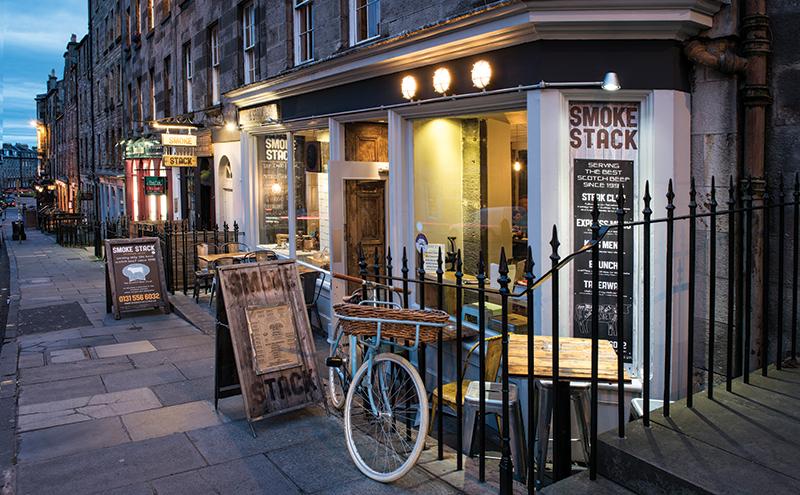 • Smoke Stack opened on Edinburgh's Broughton Street back in 1996.