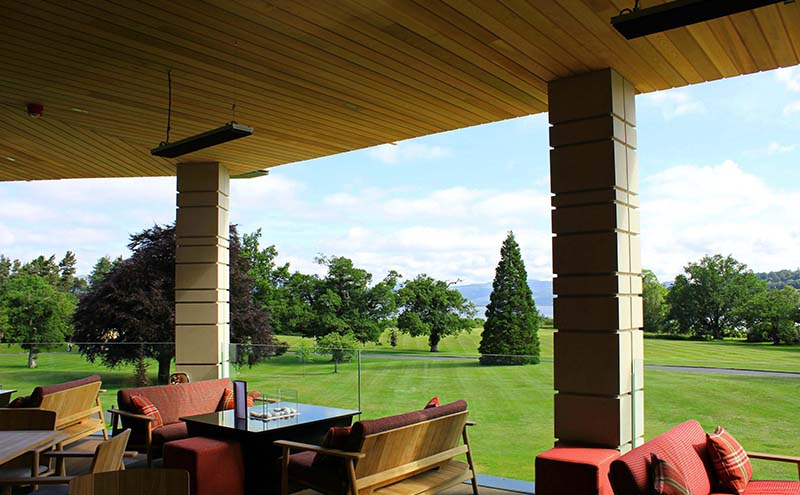 The new terrace boasts panoramic views across Loch Lomond.