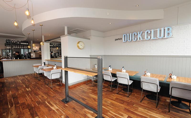 Stripped back and straightforward: simplicity is key in The Partick Duck Club as the focus is firmly placed on the quality of the food. The refurbishment was completed in just two weeks.