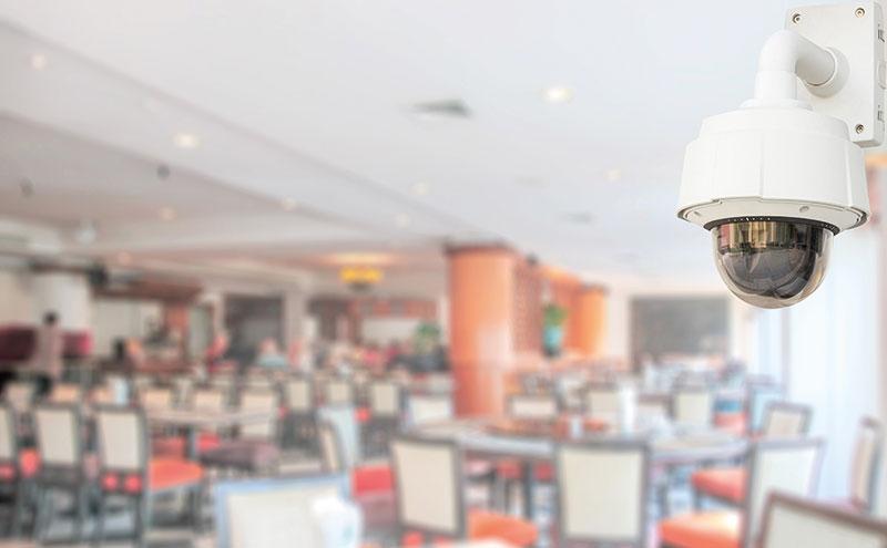 CCTV camera in a restaurant