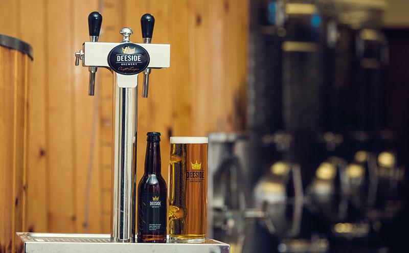 Deeside Brewery beer tap and pint