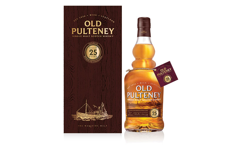 Old Pulteney 2 year old box and bottle