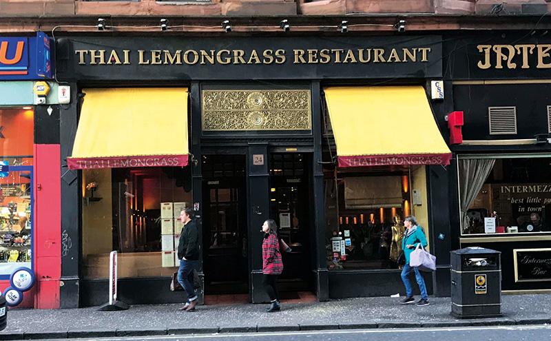 Thai Lemongrass is on Renfrew Street.