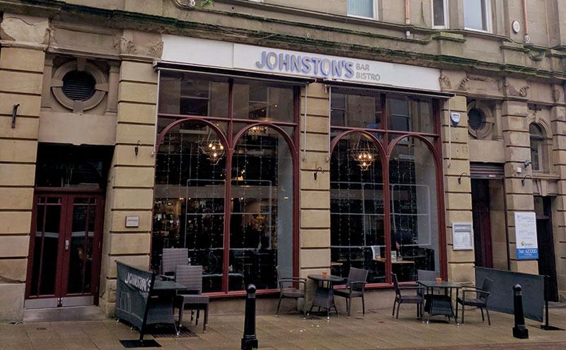 Johnston's Bar & Bistro in Falkirk.