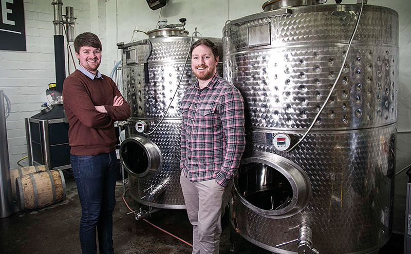 Liam Pennycook (left) with Twin River's brand director, Ryan Rhodes.