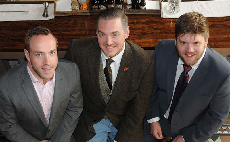 Kained directors (from left) Mo Clark, Graham Suttle and Scott Arnot.