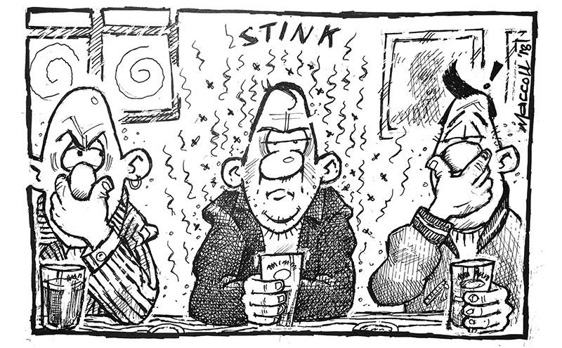 Cartoon by Ranald MacColl.