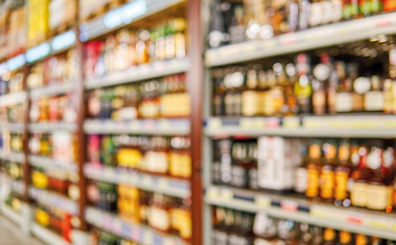Bottles-on-supermarket-shelves