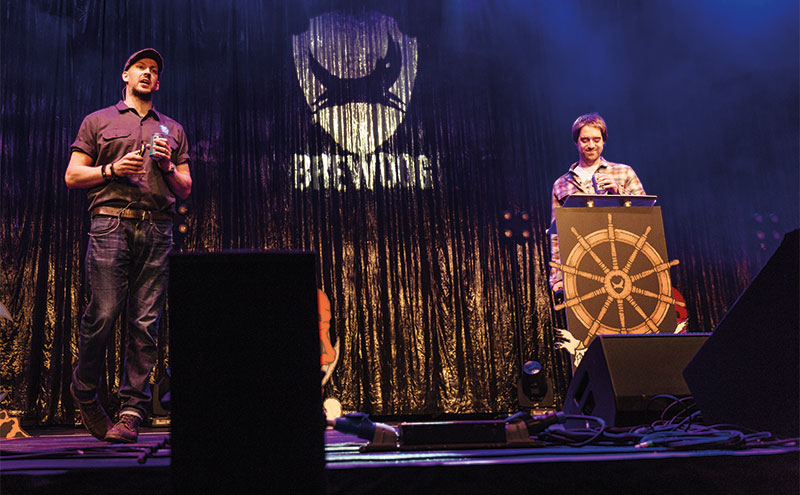 Founders James Watt and Martin Dickie at Brewdog's AGM this month.