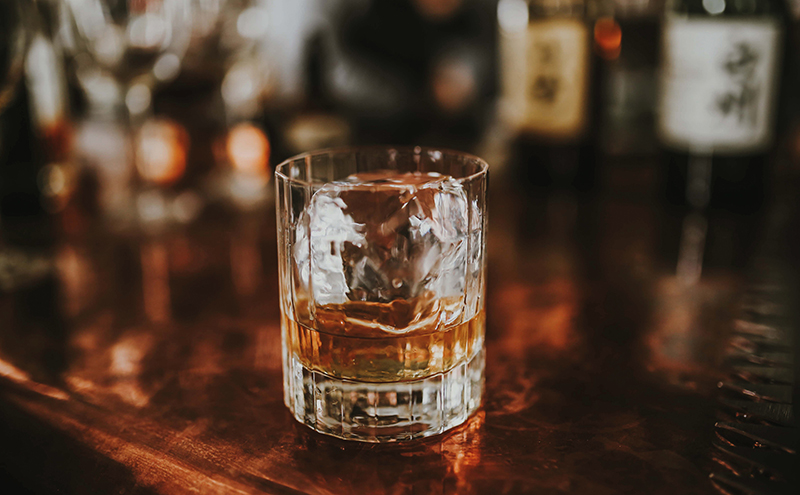 Whisky on bar