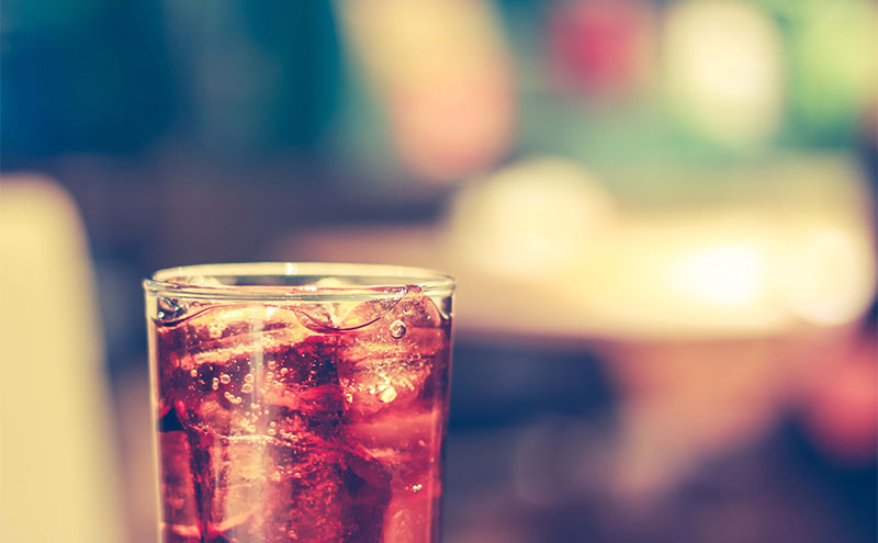 Coke with blurred background