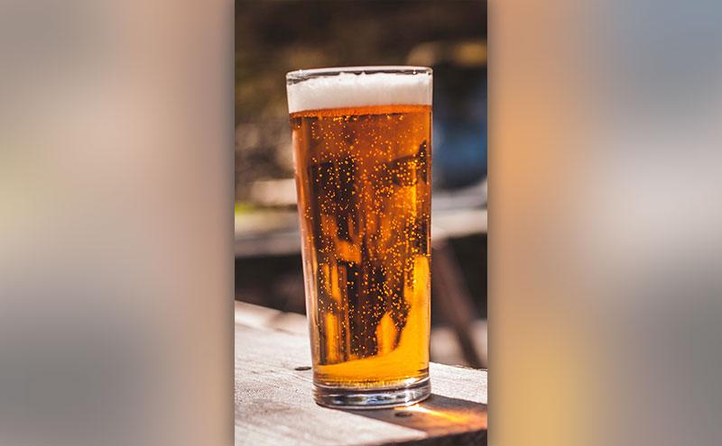 A pint in the sun