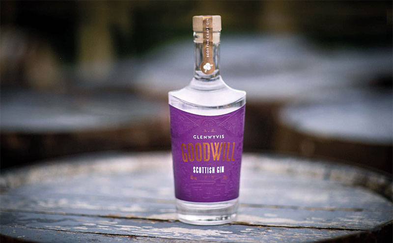 GlenWyvis Goodwill Gin features nine botanicals, including local hawthorn berries.