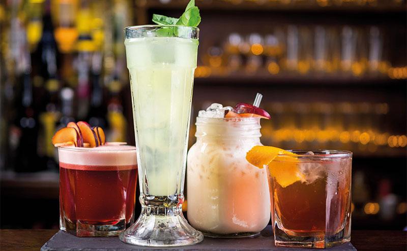 Range of cocktails