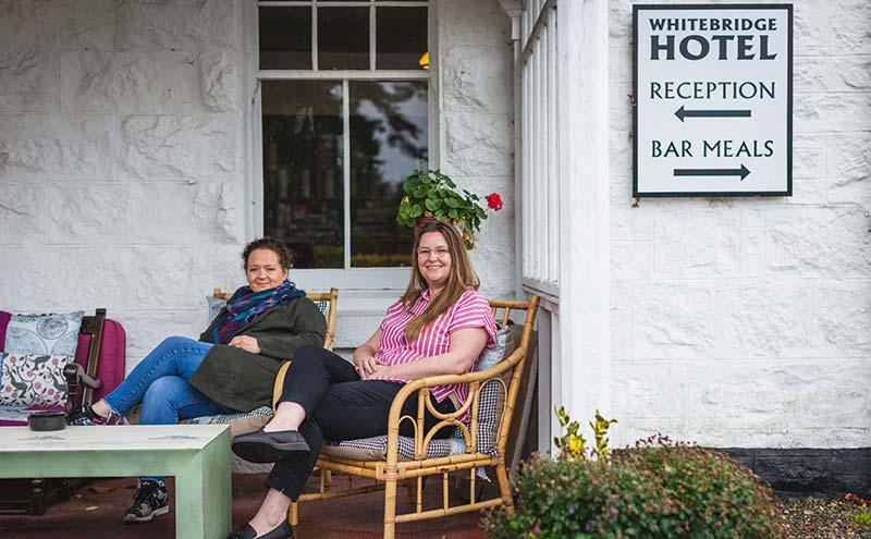 Embracing change: Lesley Renton and Isabella Kilgannon.