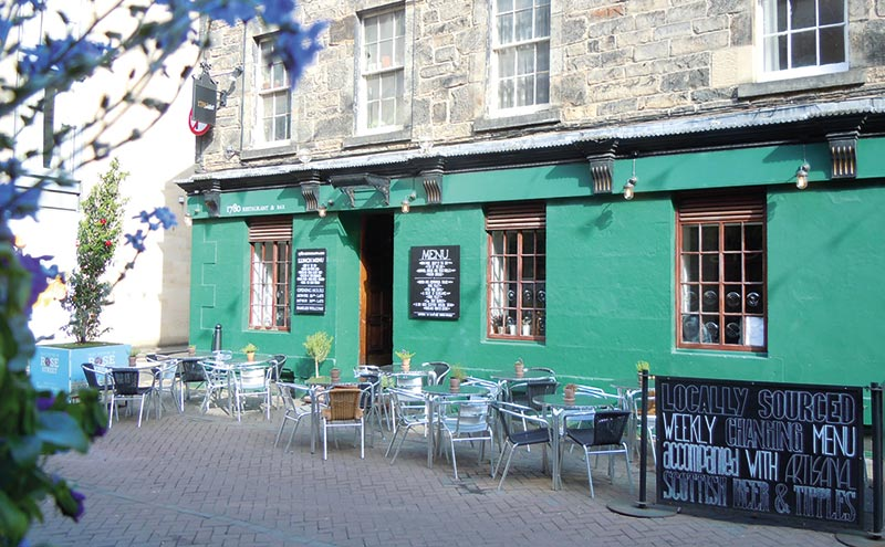 The Rose Street venue includes an outdoor area