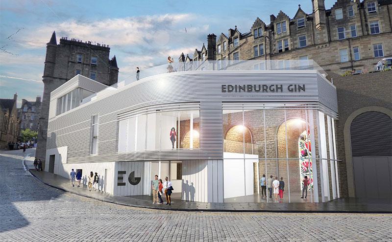 Artwork of new Edinburgh Gin distillery