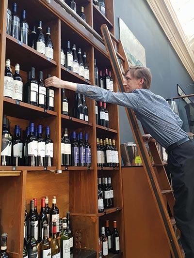 Winter is coming: Luke Richardson (right) is sommelier at Edinburgh wine bar Le Di-Vin (above).