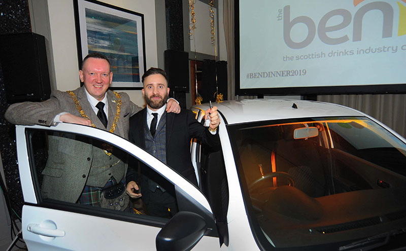 Top gear: Ben president Stephen McGowan with Marco Lazzurri