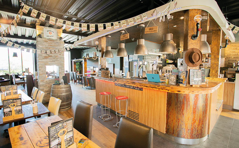 The outlet is currently an American-style diner and bar