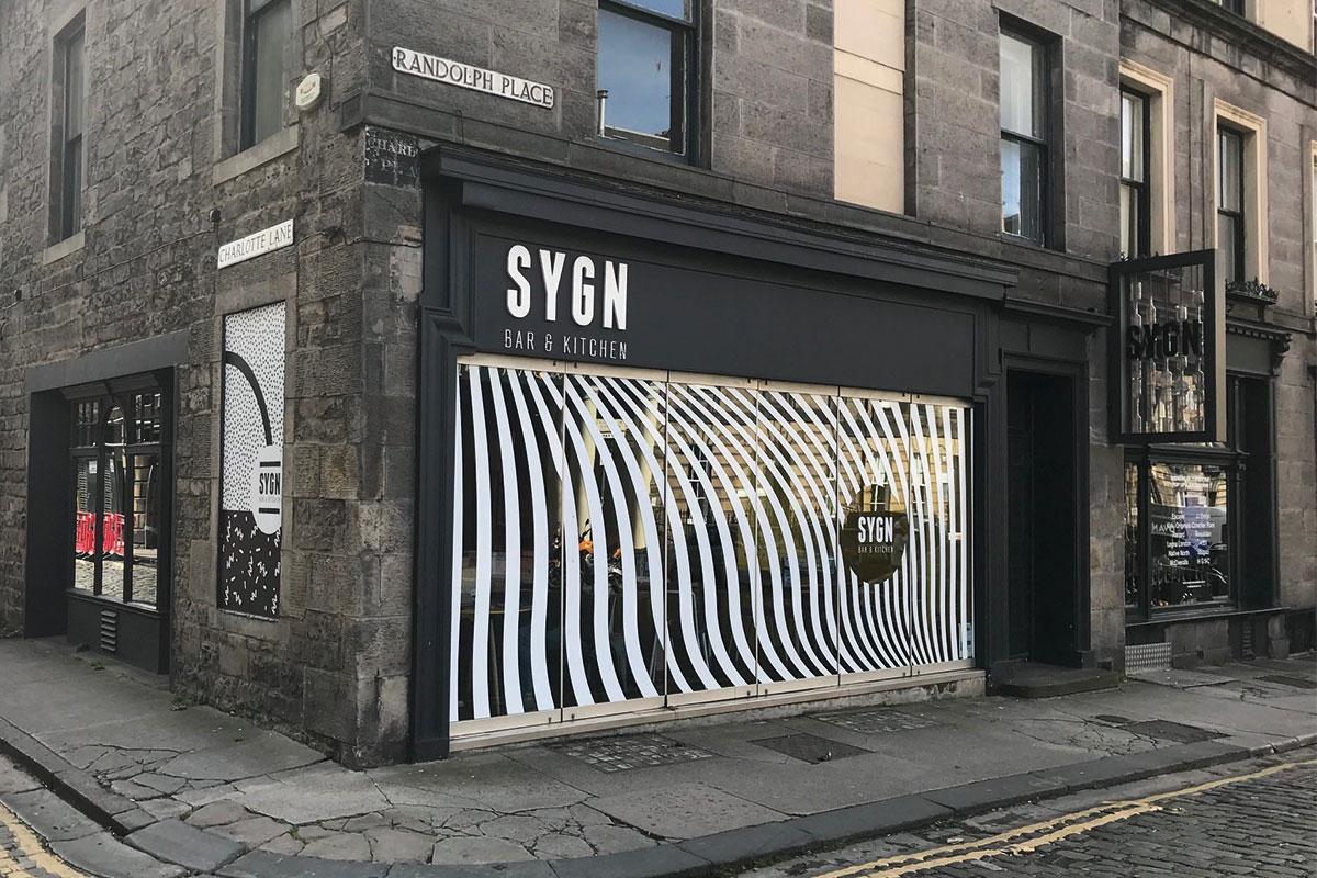 Sygn Bar in Edinburgh's west end