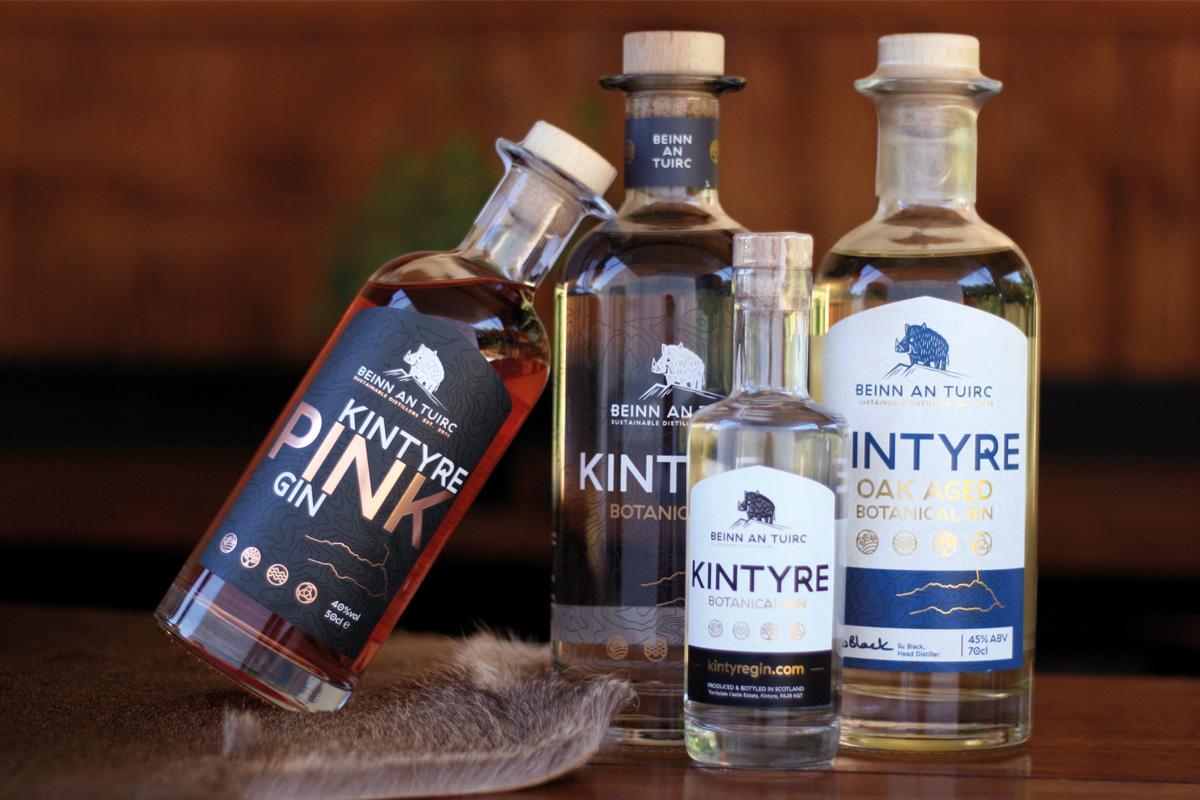 range-of-Beinn-an-Tuirc-Distillery-products