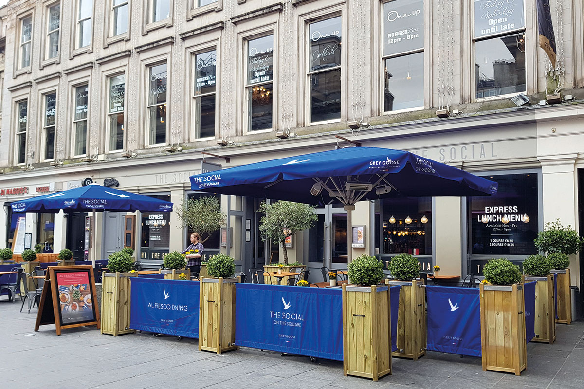 The-Social-outdoor-area-Glasgow