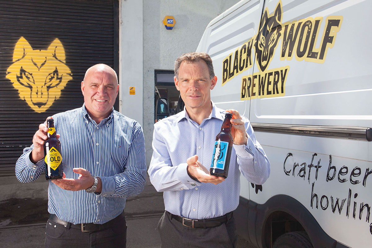 Kenny-Webster-of-Isle-of-Skye-Brewing-and-Graham-Coull-of-Black-Wolf-Brewery
