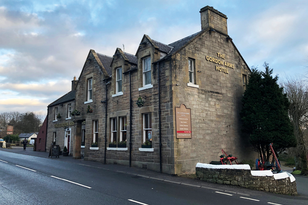 The Gordon Arms Hotel is said to be the only pub in the commuter village of West Linton.