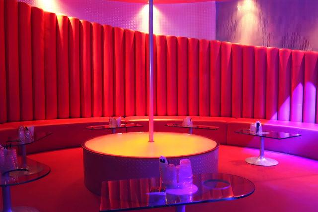Empty lapdance club